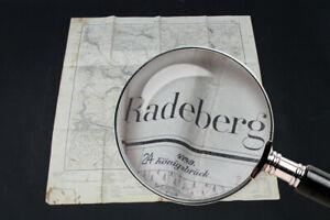 alte-Karte-ueber-Radeberg-Dresden-Sachsen-old-vintage-Sammler