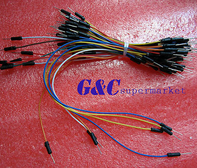 2PCS Male to Male Solderless Flexible Breadboard Jumper Cable Wires 65Pcs