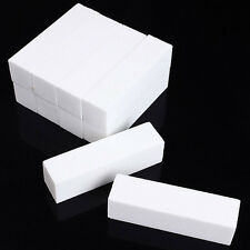 10Pcs Women White Buffing Buffer Block Files Pedicure Sanding Manicure Tips Tool