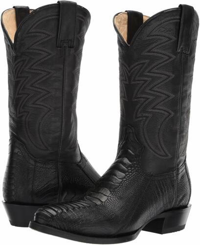 Roper Silverton 09-020-6200-8117 Mens Black Ostrich Leg Western Boots, Size 9.5D