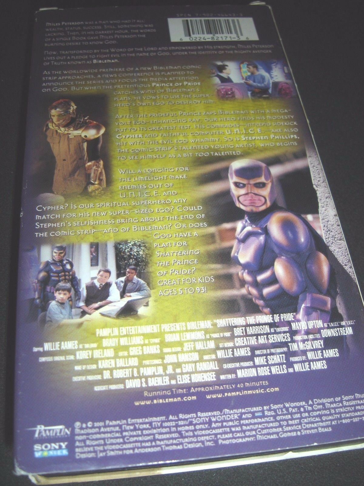 Bibleman Adventure, The: Shattering the Prince of Pride (VHS, 2000)
