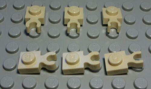1141 # LEGO plaque 1x1 avec Clip Beige 6 pièces