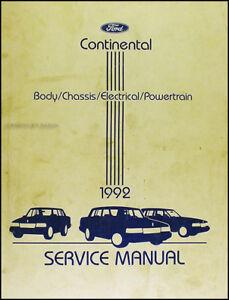 1992 lincoln continental shop manual 92 original repair service book rh ebay com 1967 lincoln continental shop manual 1966 lincoln continental shop manual pdf