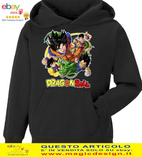 FELPA DRAGON BALL SON GOKU CARTOON ANIME MANGA CAPPUCCIO E TASCONE