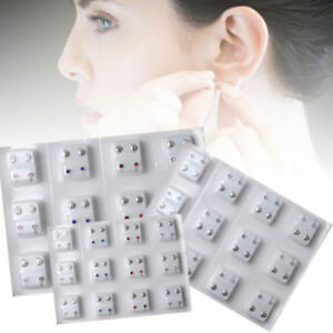 12Pairs-Crystal-Surgical-Steel-Piercing-Ear-Studs-Earrings-Piercing-Gun-Jewelry