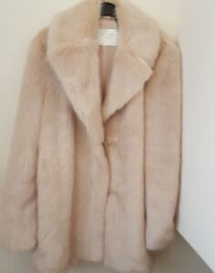 Zara Textured Coat Nude Pink  A/W1017/18 New Size L by Ebay Seller