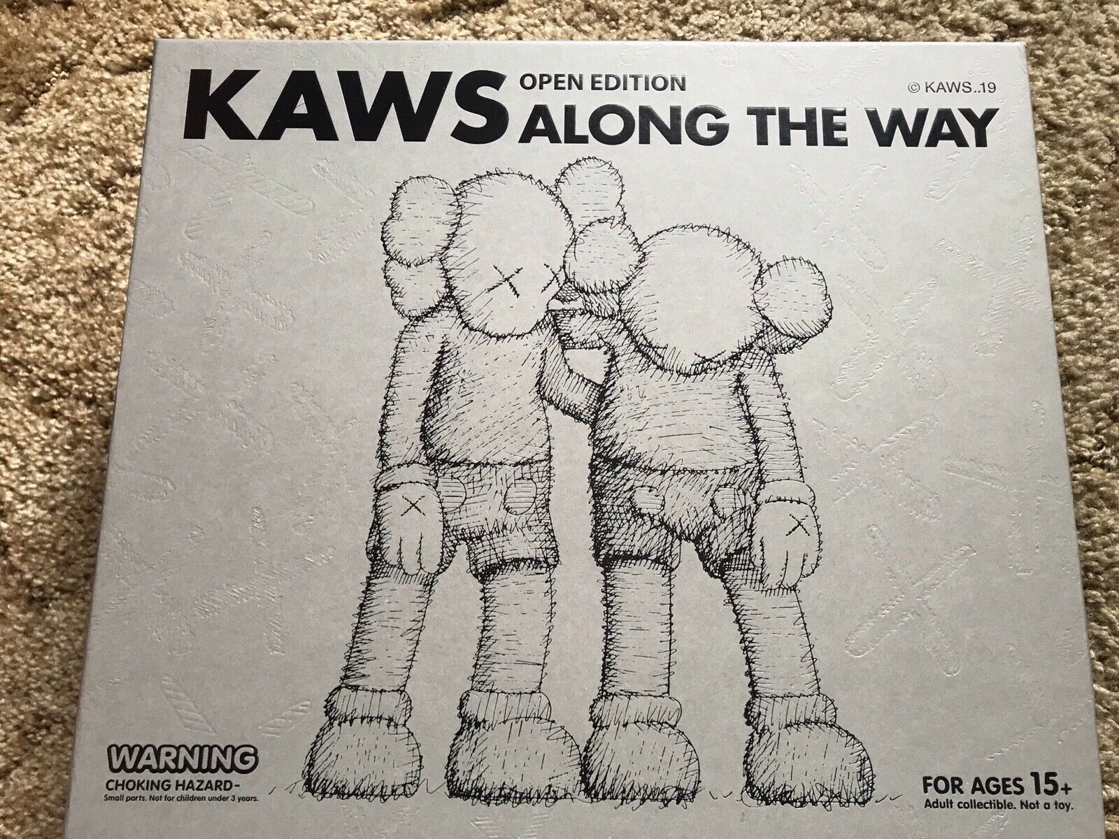KAWS Along the Way Marronee Companion 100% Authentic IN HAND 2018 New Medicom Toy
