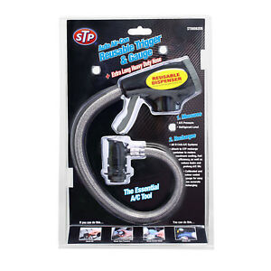 STP Auto Freeze R-134A Air Conditioning Reusable Trigger Dispenser & Gauge A/C