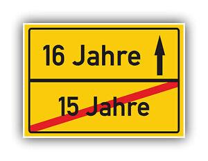 Ortsschild-Deko-Bild-Geschenkidee-zum-16-Geburtstag-Glueckwunsch-Geschenk-Karte