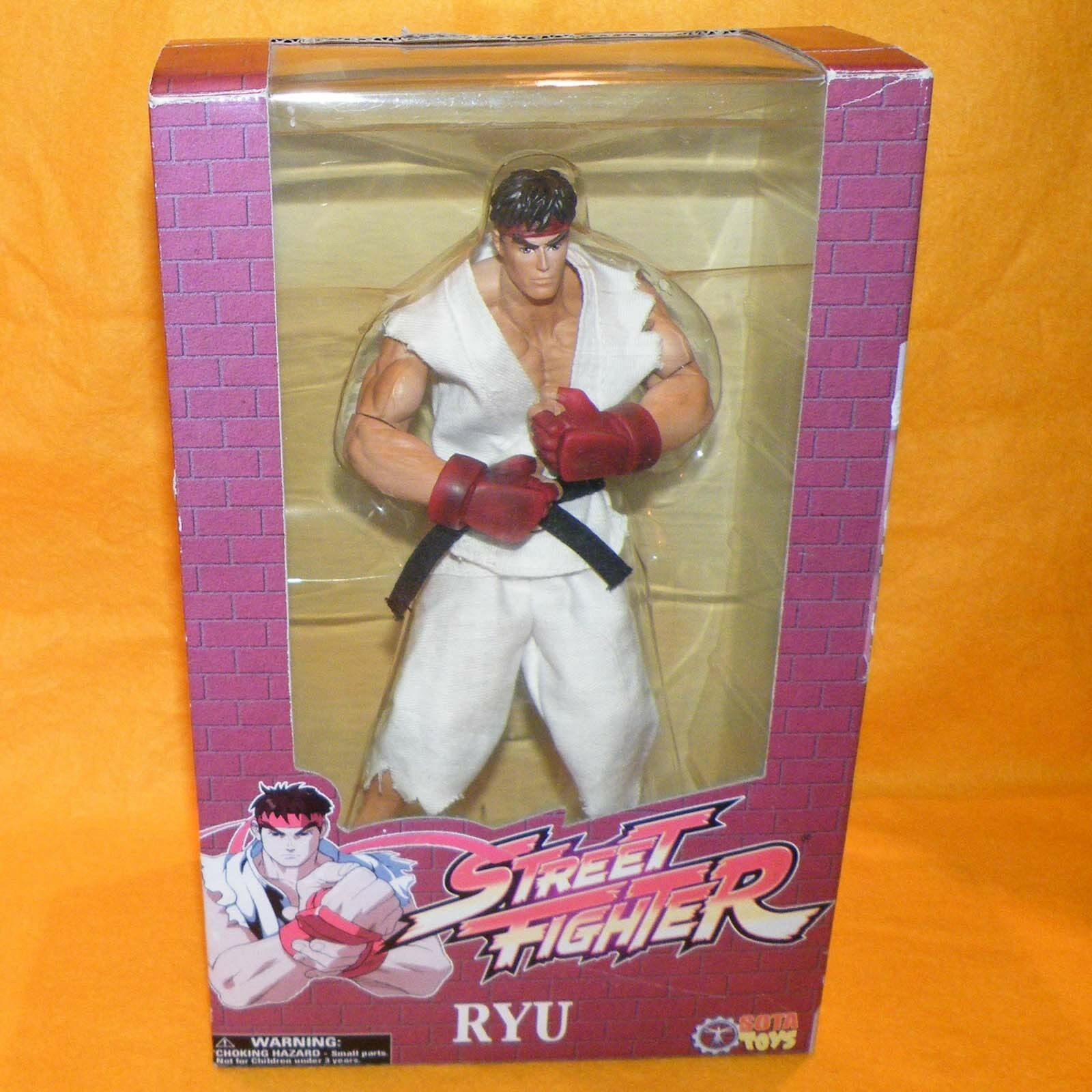 2005 CAPCOM SOTA TOYS STREET FIGHTER RYU ACTION FIGURE BOXED LIMITED EDITION