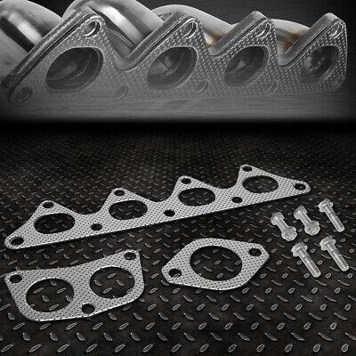 Aluminum Exhaust Manifold Header Gasket Set for 02-07 Mitsubishi Lancer 2.0L
