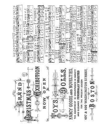 Music /& Advert CMS358 Tim Holtz Cling Rubber Stamps