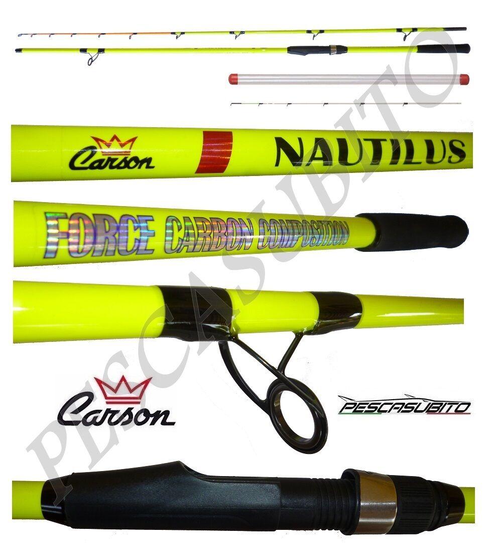 Canna Nautilus 2.70Mt Max 250g Pesca Bolentino 2 Pezzi Mare Dentice autobonio EH