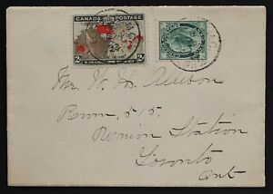 1898 Map 85 First Day Eve philatelic re-constructed 2 tone bisect. Muddy Waters