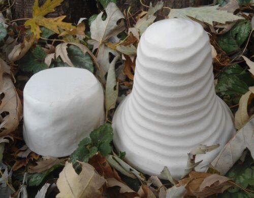 Poly plastic 2 piece circle mushroom garden mold plaster concrete casting mould