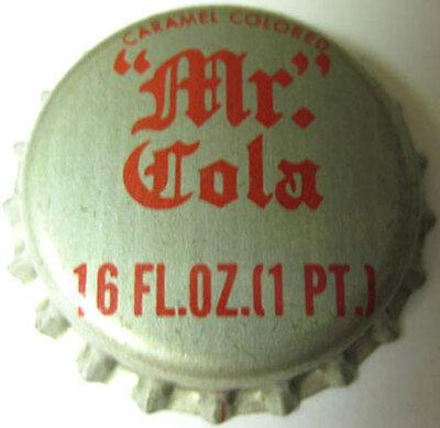 "ILLINOIS Bottle CAP Kewanee /""MR./"" COLA 16 oz unused Cork-lined Soda CROWN"
