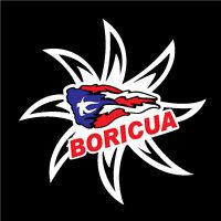 Puerto Rico Car Decal Sticker Boricua Sun With Puerto Rican Flag 114