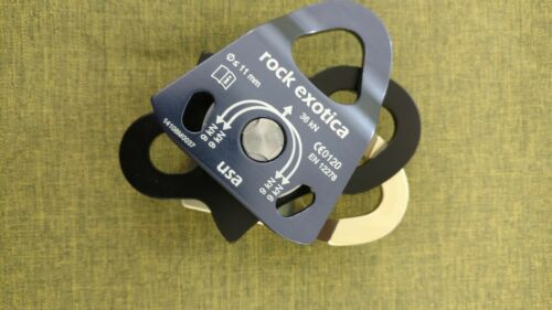 Rock Exotica  Mini Machined Pulley DOUBLE Ball Bearing P21D Rigging Rescue