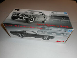 GMP-Custom-1968-Ford-Mustang-GT-Fastback-Black-1-24-Scale-Diecast-86-of-350