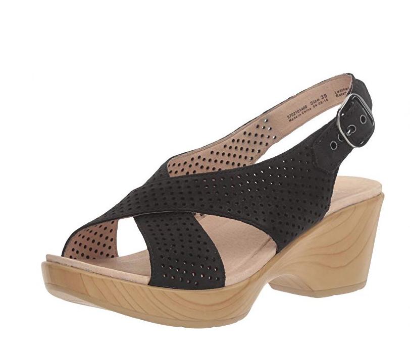 New Dansko Jacinda Nubuc Dress Sandal Wedge  Platform nero Walnut 40  vieni a scegliere il tuo stile sportivo