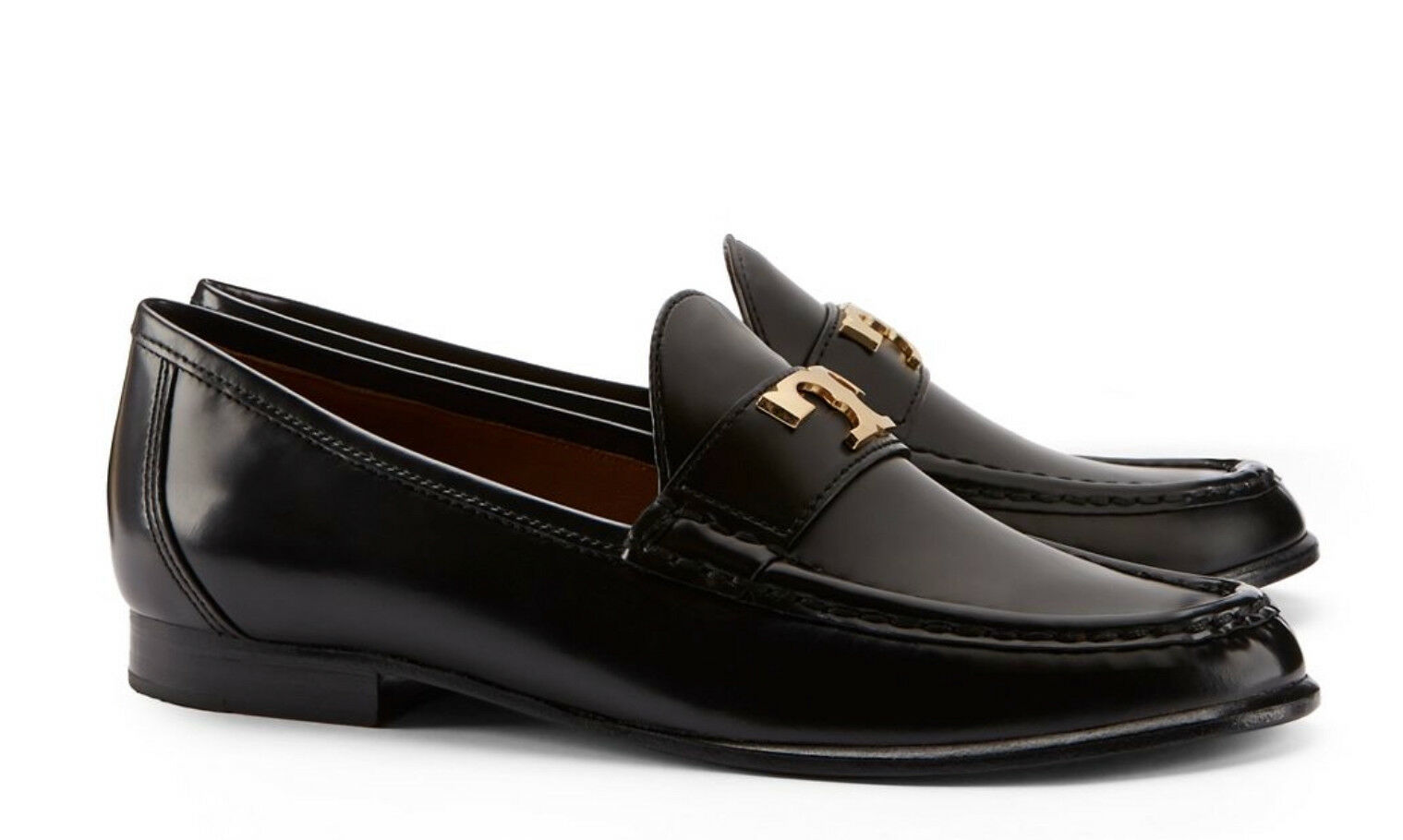 TORY BURCH Townsend Loafers Glossy Black 7.5 NIB