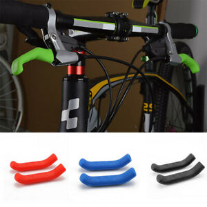 New 2Pairs Road Bike Bicycle Lever Grips Silicone Brake Handle Cover 5Colors