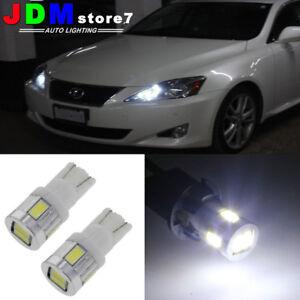 2x-Super-White-T10-LED-Bulbs-For-Car-Parking-Position-City-Light-2825-168-194-P1