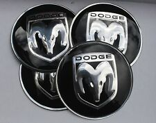 DODGE WHEEL HUB CAPS BADGE EMBLEMA ADESIVI 65mm Set di 4 resina epossidica