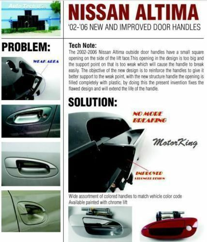 For NISSAN ALTIMA Outside Rear Left Smooth Black MotorKing Door Handle DN10003