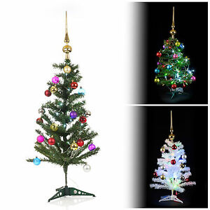 Artificial-Indoor-Christmas-Tree-With-LED-Lights-Baubles-amp-Topper-Decorations