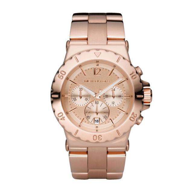 New Michael Kors MK5314 Rose Golden Chronograph Designer Watch - UK Seller