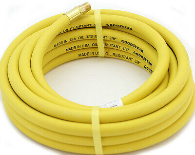 USA Made Red Heavy-Duty Rubber 3//8-Inch x 50-Ft All-Weather Rubber Air Hose Formerly Goodyear Continental