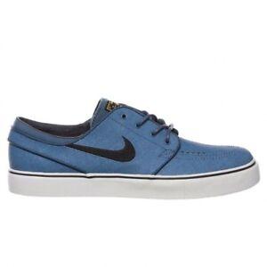 Nike SB Stefan Janoski Zoom Leather New Slate Sneakers (New Slate/Black-Varsity Maze)