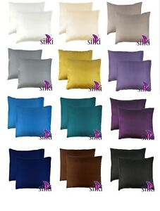 1-Pair-EUROPEAN-100-MULBERRY-Silk-2-sides-Pillow-cases-cover-25-momme-ZIPPER