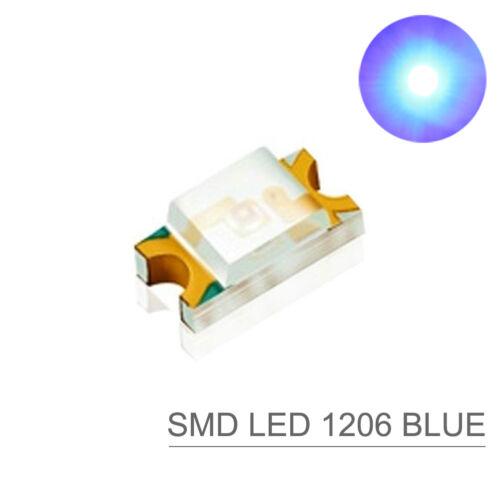 SMD LED blau Bauform 1206 blue NEU 1206B 100 Stk