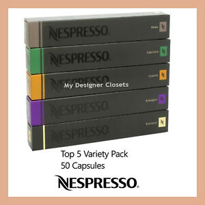 New-50-Capsules-Nespresso-Coffee-Best-Variety-Pack-Mixed-Pod-Top-5-Popular