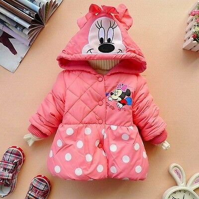 Kids Minnie Mouse Jacket Coat Girls Beautiful Winter Hoody Hoodie Gift *BNWT*