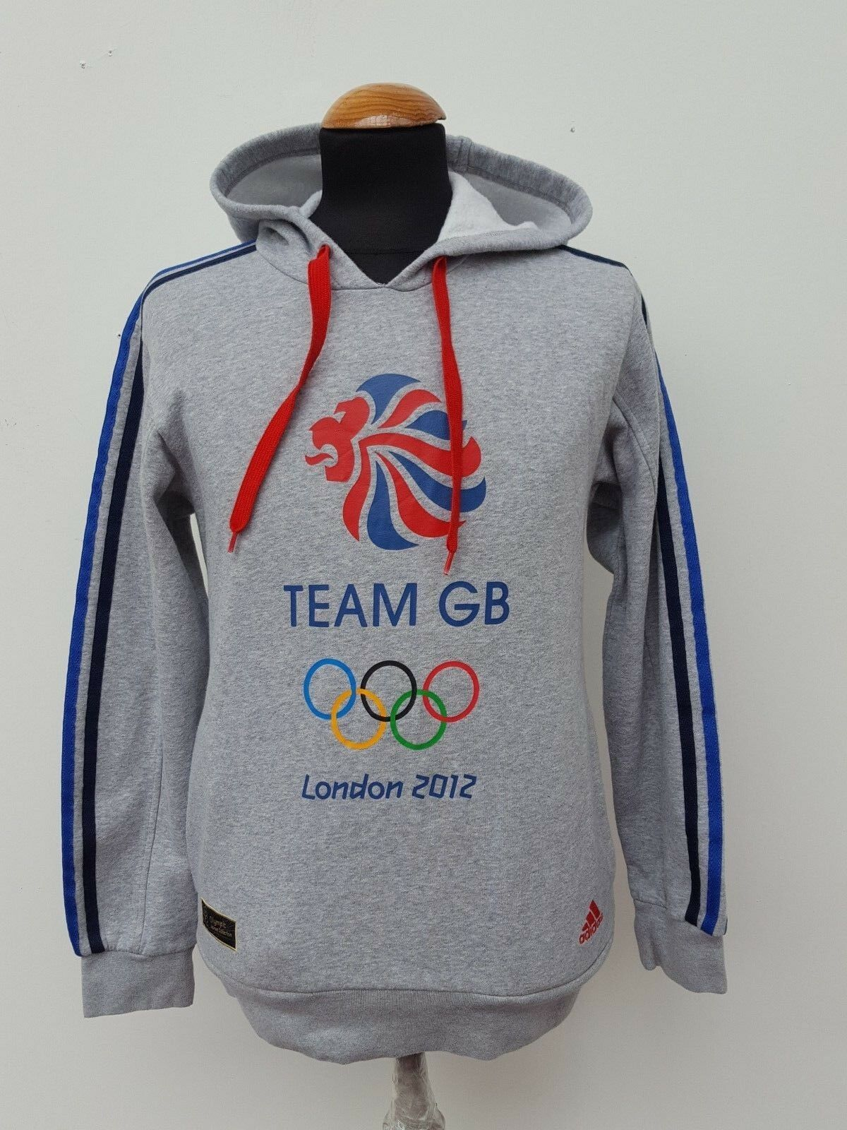 F155 MENS ADIDAS TEAM GB 2012 GRAY HOODIE TRACKSUIT TOP KIS S S 36 ""