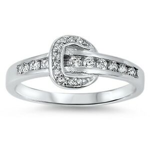 925 Sterling Silver ~ 8mm Round CZ~ Promise Ring ~Size 6//7//8//9//10