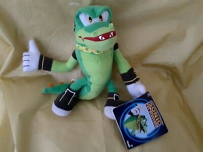 Rare 100 Official Vector The Crocodile Sonic Boom The Hedgehog Tomy 8 Plush Uk Ebay