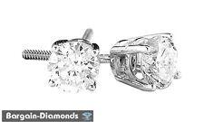 blue white diamond .12 carat stud screwback earrings 925 unisex men octagon