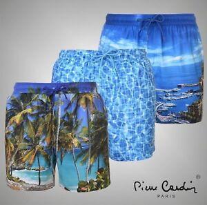 3422f3854895 Image is loading Mens-Designer-Pierre-Cardin-Lightweight-Photo-Swimshorts- Swimwear-