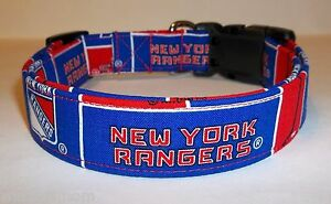 New York Rangers Terri s Dog Collar custom made adjustable with NHL ... 4e7730c3c
