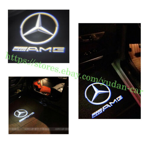 New 2pc Car LED Door Projector logo lights For Mercedes-Benz CLA CLS A207 C207