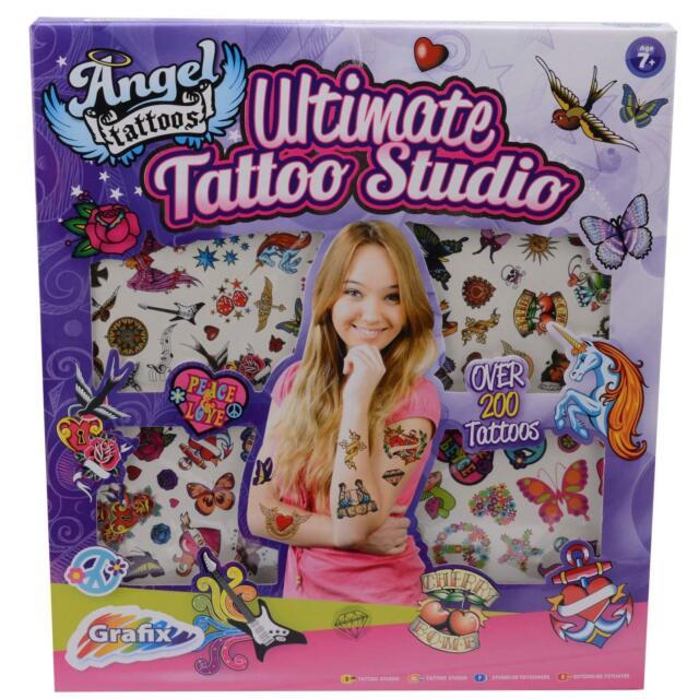 200 Pieces Boys Art Craft Activity Set Grafix BOYS Ultimate Tattoo Studio