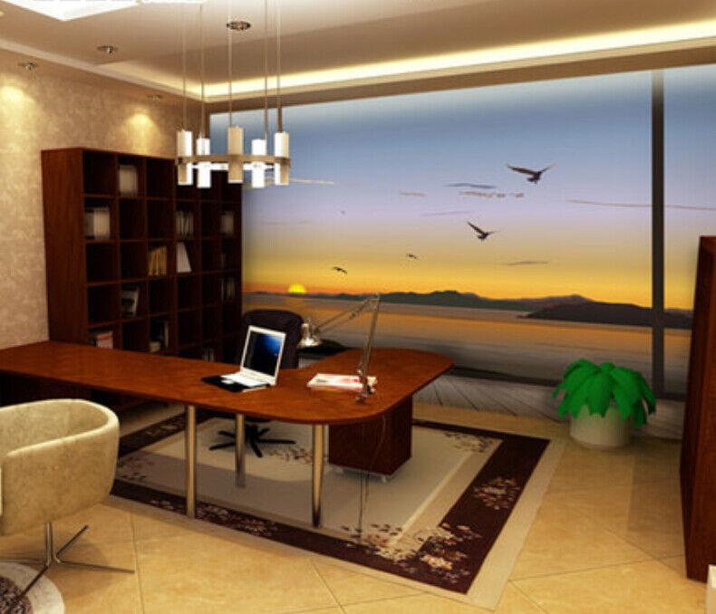 3D Vögel Sonnenuntergang 75 Tapete Wandgemälde Tapete Tapeten Bild Familie DE  | Zürich Online Shop  | Online-Shop  | Komfort