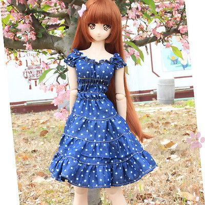 Blue Navy Style Sweet Dress//Skirt For 1//3 SD MSD BJD Clothes Short-sleeved dress
