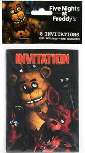 Image Is Loading Five Nights At Freddy 039 S Invitations 8