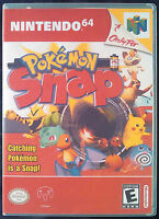 Pokemon Snap N64 Vertical High Quality Box Art/case By Retrodan