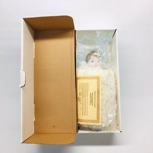 1983-Ideal-Tiny-Tears-14-034-Porcelain-Doll-Blue-Box-Rooted-Hair-Pillow-Bottle-COA